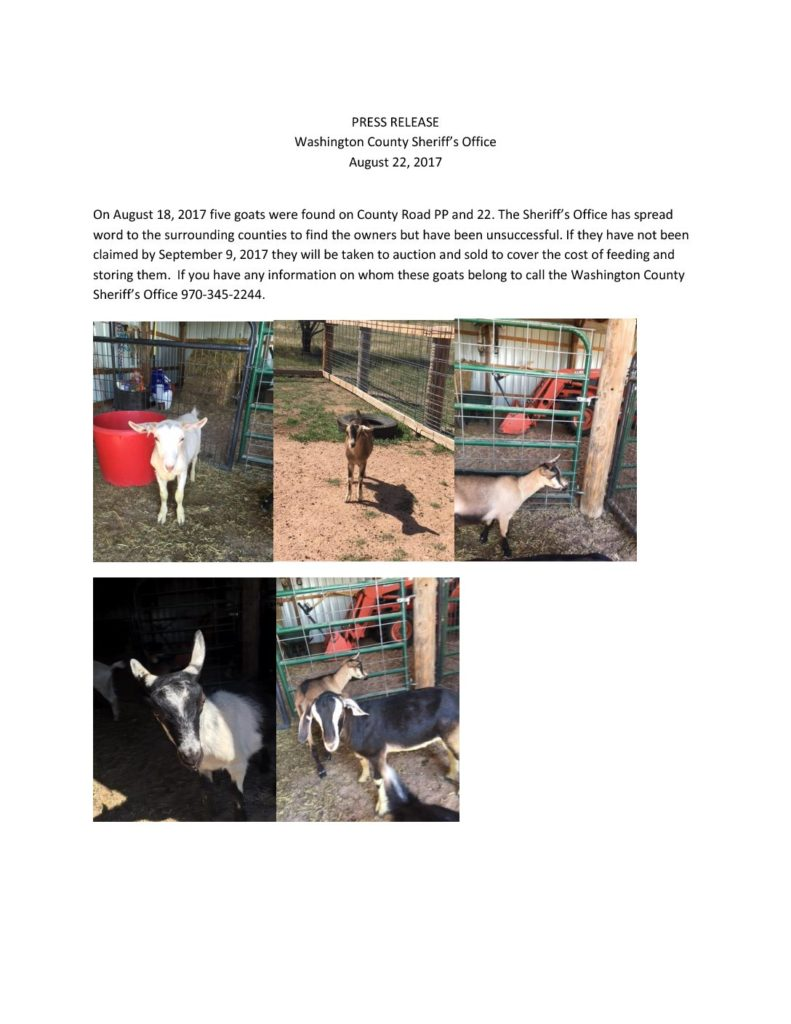 Goat press release 8-22-17
